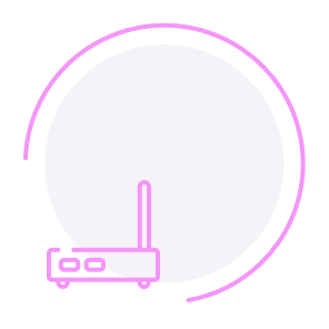 Broadband wireless routers circle